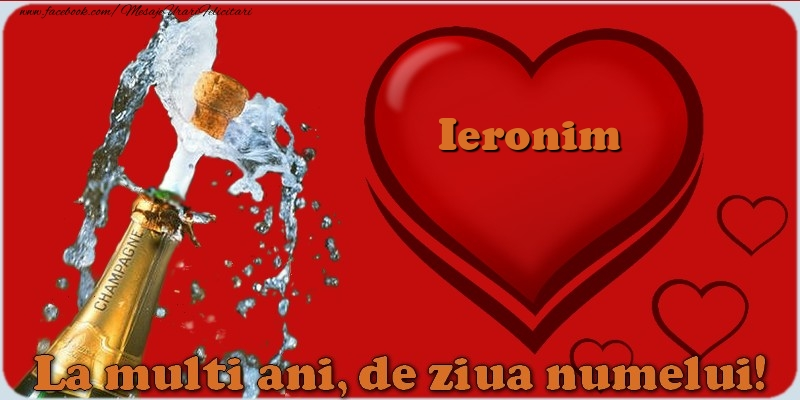 Felicitari de Ziua Numelui - La multi ani, de ziua numelui! Ieronim