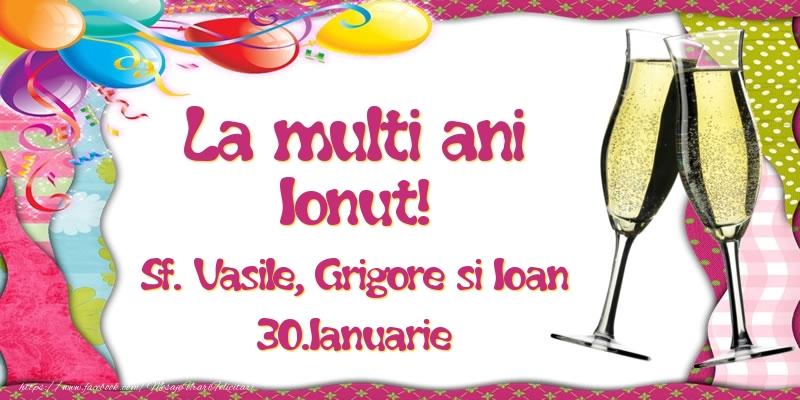 Felicitari de Ziua Numelui - La multi ani, Ionut! Sf. Vasile, Grigore si Ioan - 30.Ianuarie