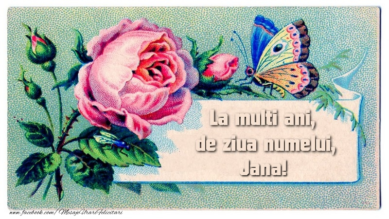 Felicitari de Ziua Numelui - La multi ani, de ziua numelui Jana