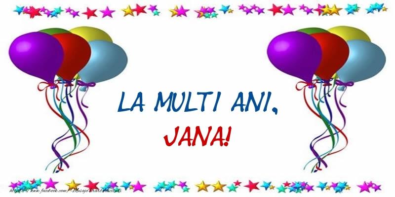 Felicitari de Ziua Numelui - La multi ani, Jana!