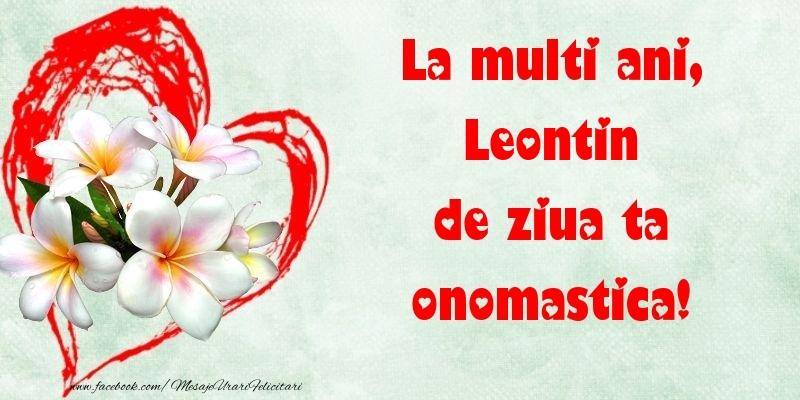 Felicitari de Ziua Numelui - La multi ani, de ziua ta onomastica! Leontin
