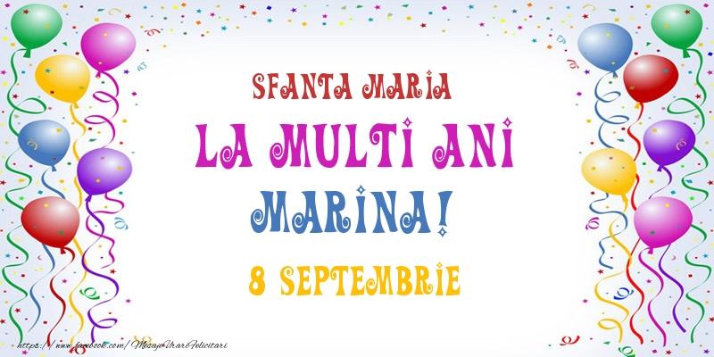 Felicitari de Ziua Numelui - La multi ani Marina! 8 Septembrie