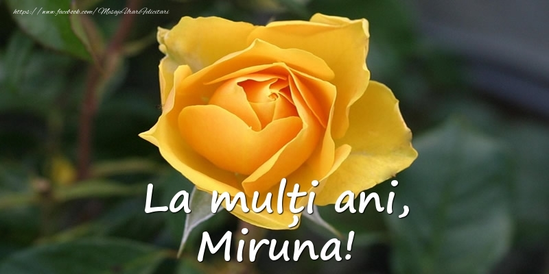 Felicitari de Ziua Numelui - La mulți ani, Miruna!