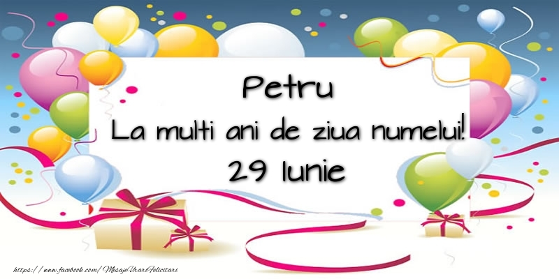 Felicitari de Ziua Numelui - Petru, La multi ani de ziua numelui! 29 Iunie