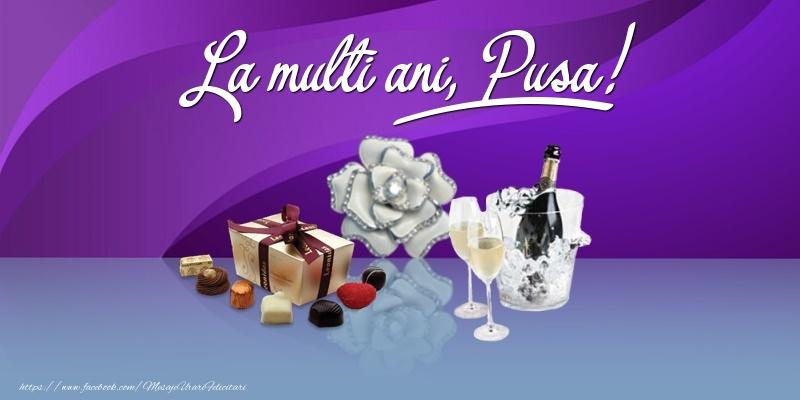 Felicitari de Ziua Numelui - La multi ani, Pusa!
