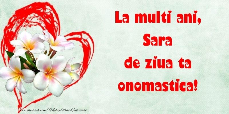 Felicitari de Ziua Numelui - La multi ani, de ziua ta onomastica! Sara