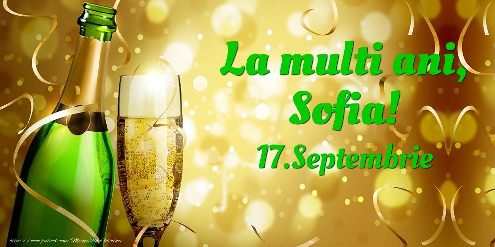 Felicitari de Ziua Numelui - La multi ani, Sofia! 17.Septembrie -