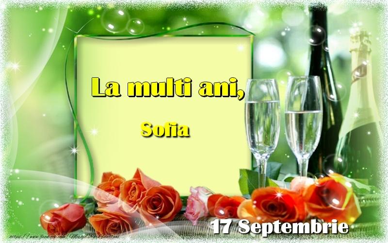 Felicitari de Ziua Numelui - La multi ani, Sofia! 17 Septembrie