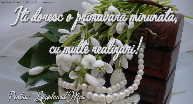 Felicitari de 1 Martie pentru Logodnic - Felicitare de 1 martie logodnicul meu