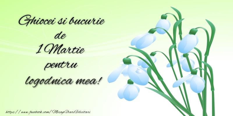 Felicitari de 1 Martie pentru Logodnica - Ghiocei si bucurie de 1 Martie pentru logodnica mea!