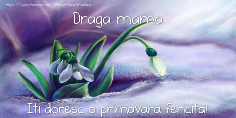 Felicitari de 1 Martie pentru Mama - Draga mama iti doresc o primavara fericita!
