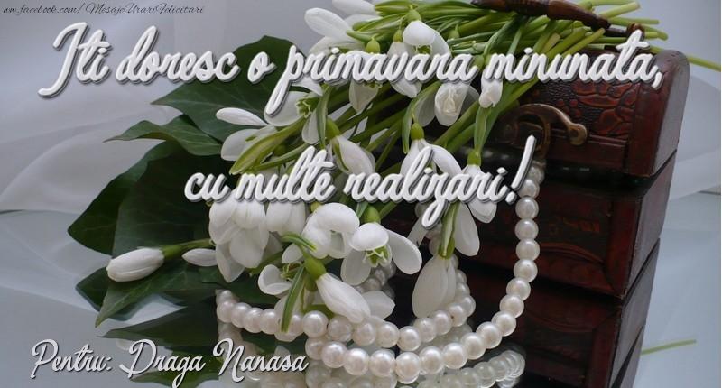 Felicitari de 1 Martie pentru Nasa - Felicitare de 1 martie draga nanasa