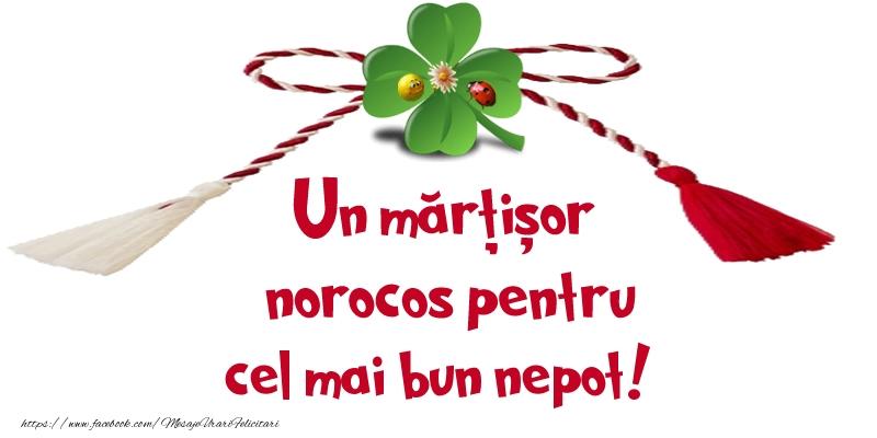 Felicitari de 1 Martie pentru Nepot - Un mărțișor norocos pentru cel mai bun nepot!