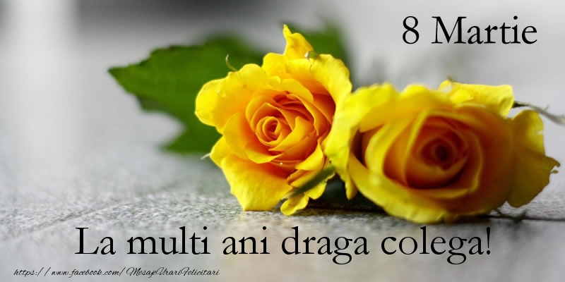 Felicitari de 8 Martie pentru Colega - 8 Martie La multi ani draga colega!