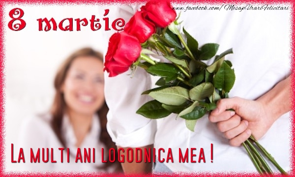 Felicitari de 8 Martie pentru Logodnica - 8 Martie. La multi ani logodnica mea