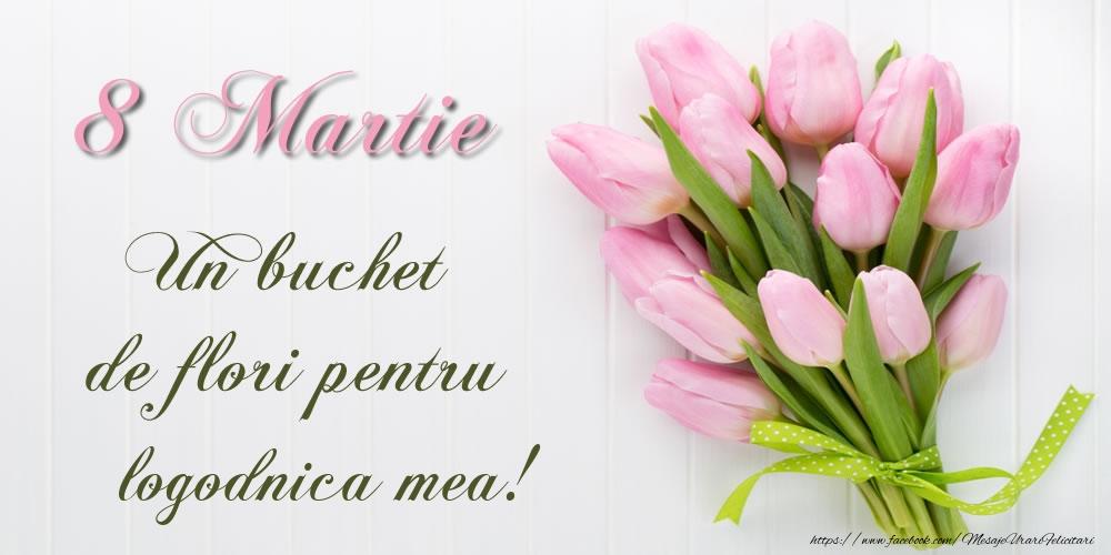 Felicitari de 8 Martie pentru Logodnica - 8 Martie Un buchet de flori pentru logodnica mea!