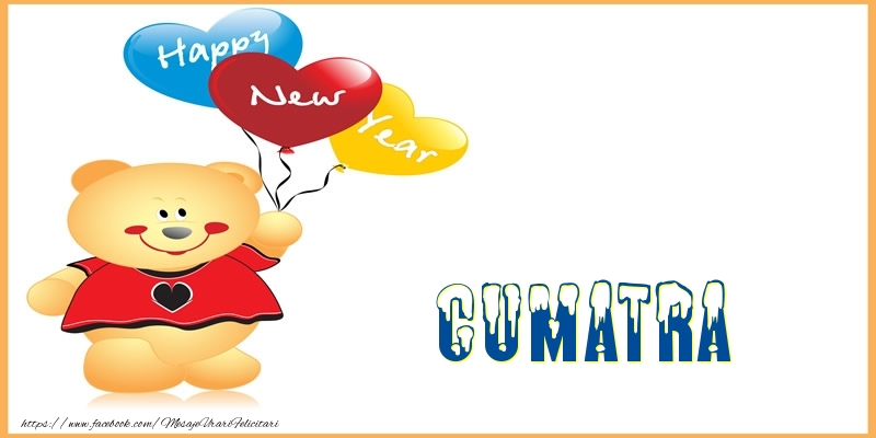 Felicitari de Anul Nou pentru Cumatra - Happy New Year cumatra!