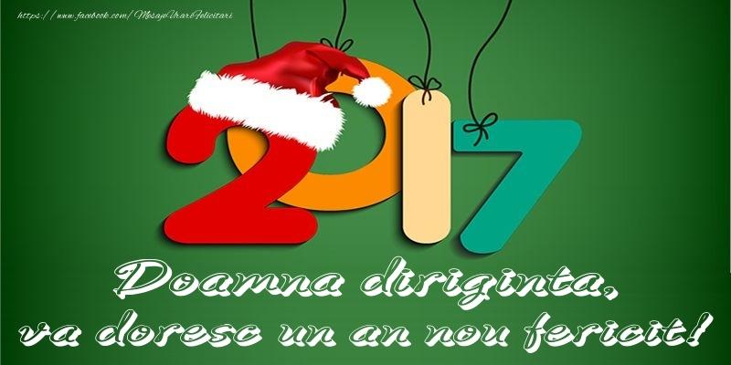 Felicitari de Anul Nou pentru Diriginta - Doamna diriginta, va doresc un an nou fericit!