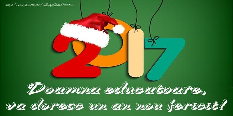 Felicitari de Anul Nou pentru Educatoare - Doamna educatoare, va doresc un an nou fericit!