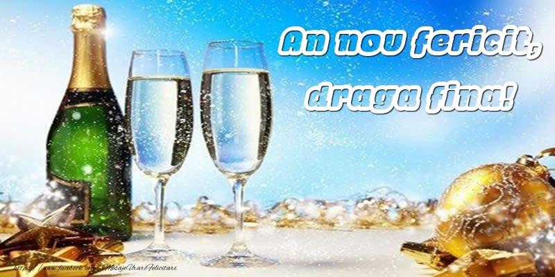Felicitari de Anul Nou pentru Fina - An nou fericit, draga fina!