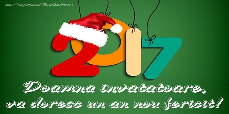 Felicitari de Anul Nou pentru Invatatoare - Doamna invatatoare, va doresc un an nou fericit!