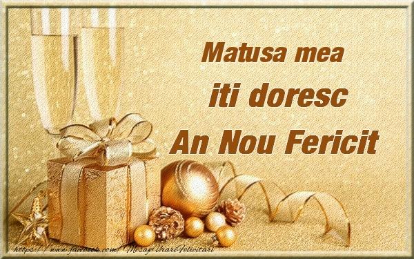 Felicitari de Anul Nou pentru Matusa - Matusa mea iti urez un An Nou Fericit