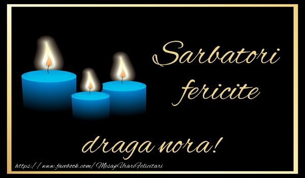 Felicitari de Anul Nou pentru Nora - Sarbatori fericite draga nora!