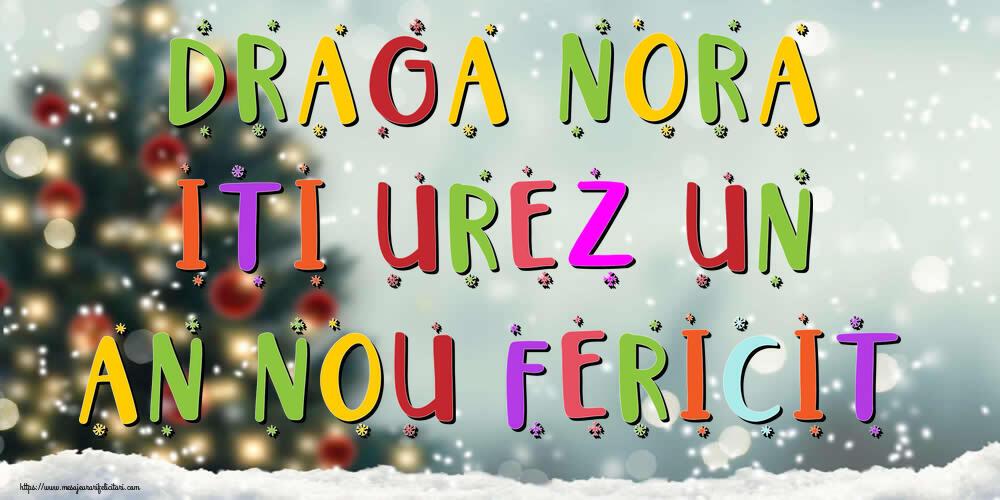 Felicitari de Anul Nou pentru Nora - Draga nora, iti urez un An Nou Fericit!
