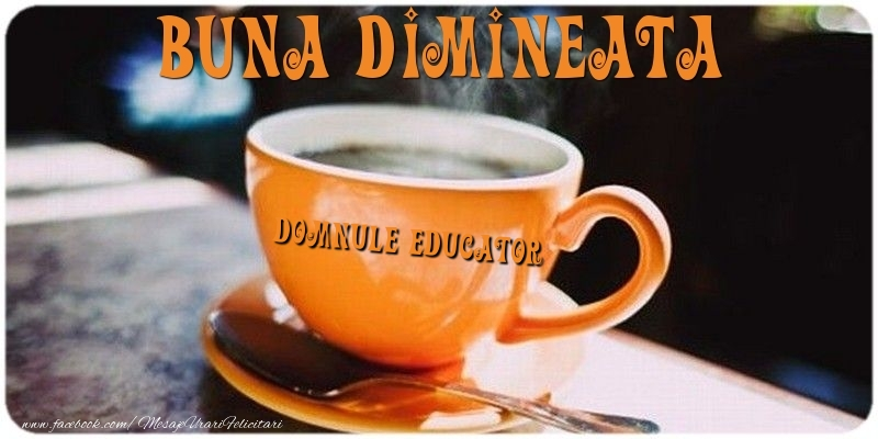 Felicitari de buna dimineata pentru Educator - Buna dimineata domnule educator