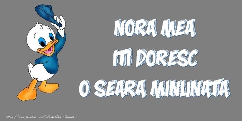 Felicitari de buna seara pentru Nora - Nora mea iti doresc o seara minunata