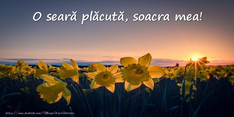 Felicitari de buna seara pentru Soacra - Flori: O seară plăcută, soacra mea!