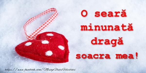 Felicitari de buna seara pentru Soacra - O seara minunata draga soacra mea!