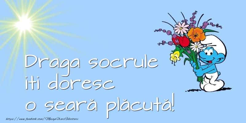 Felicitari de buna seara pentru Socru - Draga socrule iti doresc o seară plăcută!