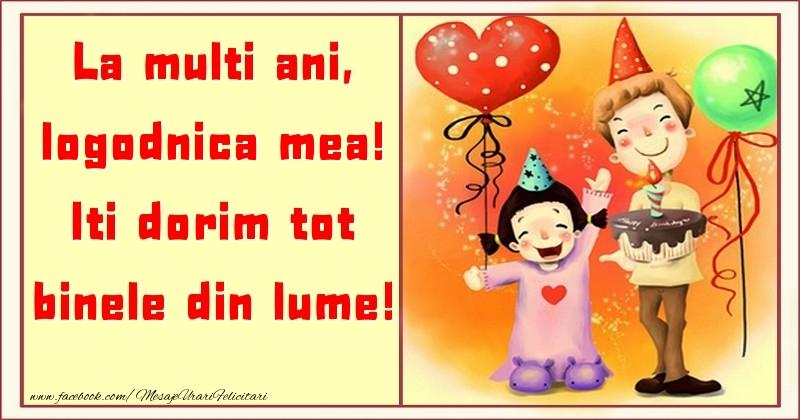 Felicitari pentru copii pentru Logodnica - La multi ani, Iti dorim tot binele din lume! logodnica mea