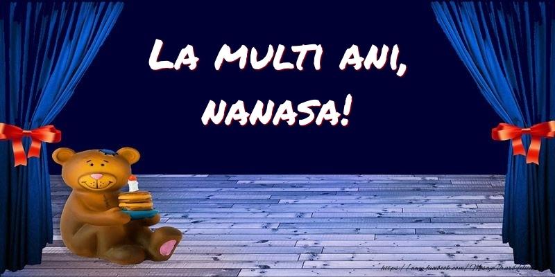 Felicitari pentru copii pentru Nasa - La multi ani, nanasa!