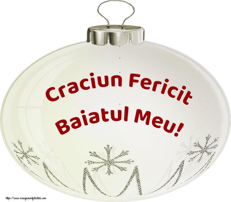 Felicitari de Craciun pentru Baiat - Craciun Fericit baiatul meu!