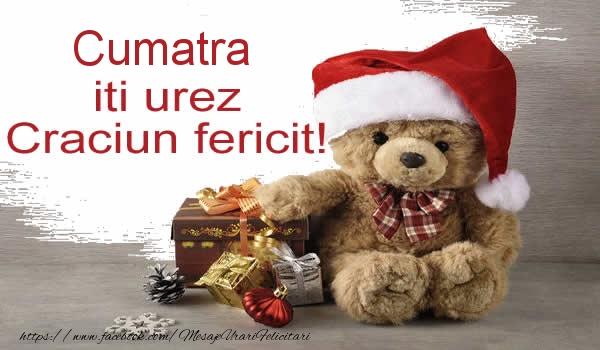 Felicitari de Craciun pentru Cumatra - Cumatra iti urez Craciun fericit!