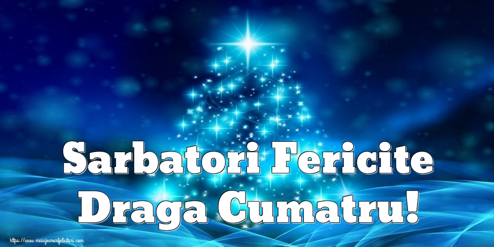 Felicitari de Craciun pentru Cumatru - Sarbatori Fericite draga cumatru!