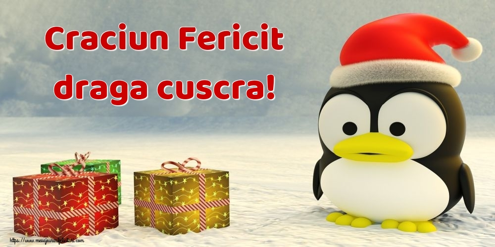 Felicitari de Craciun pentru Cuscra - Craciun Fericit draga cuscra!