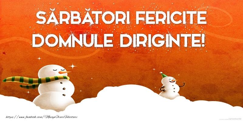 Felicitari de Craciun pentru Diriginte - Sărbători Fericite domnule diriginte!