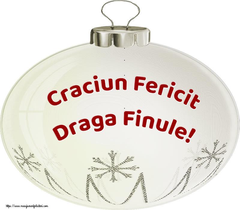 Felicitari de Craciun pentru Fin - Craciun Fericit draga finule!