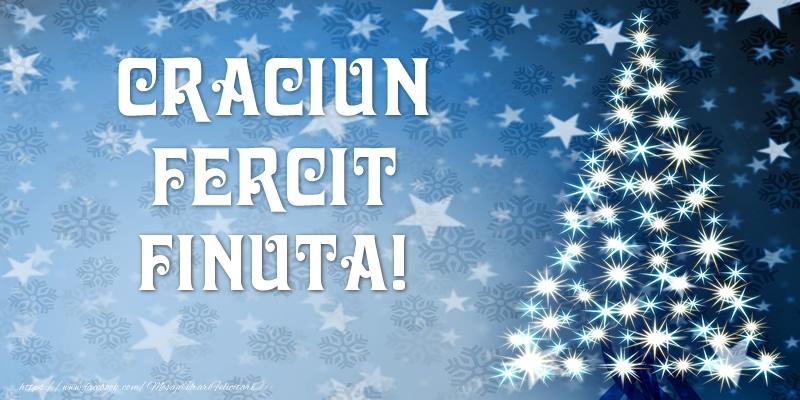 Felicitari de Craciun pentru Fina - Craciun Fericit finuta!