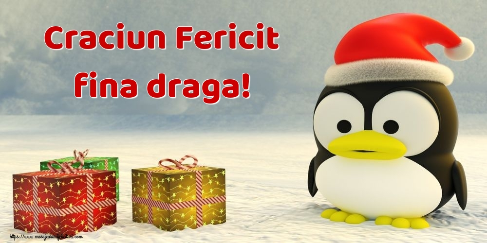 Felicitari de Craciun pentru Fina - Craciun Fericit fina draga!
