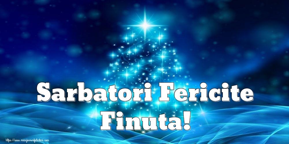 Felicitari de Craciun pentru Fina - Sarbatori Fericite finuta!