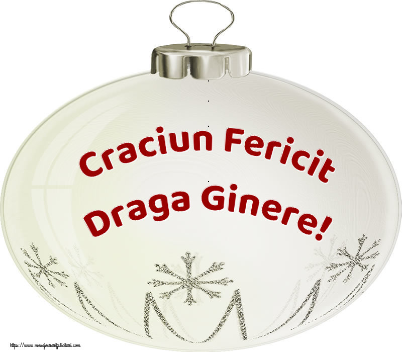 Felicitari de Craciun pentru Ginere - Craciun Fericit draga ginere!