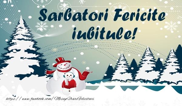 Felicitari de Craciun pentru Iubit - Sarbatori fericite iubitule!
