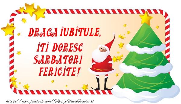 Felicitari de Craciun pentru Iubit - Draga iubitule, Iti Doresc Sarbatori  Fericite!