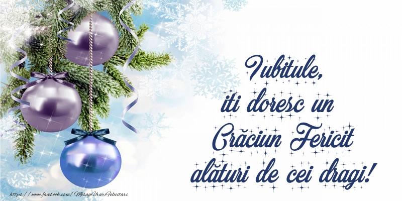 Felicitari de Craciun pentru Iubit - Iubitule, iti doresc un Crăciun Fericit alături de cei dragi!