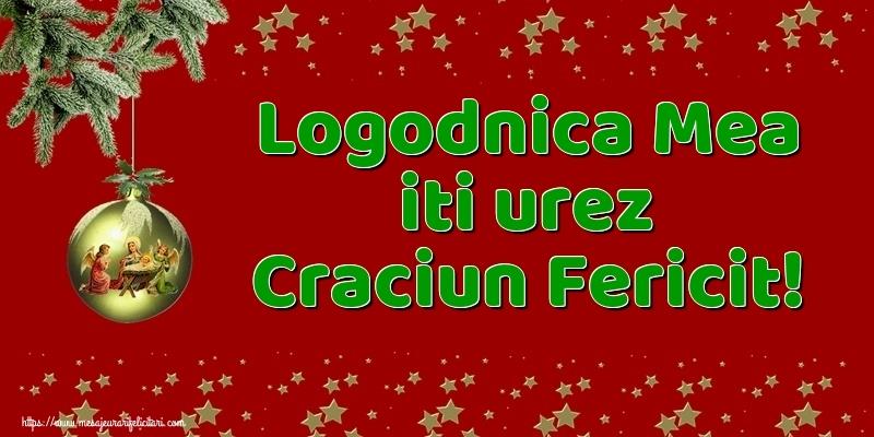 Felicitari de Craciun pentru Logodnica - Logodnica mea iti urez Craciun Fericit!