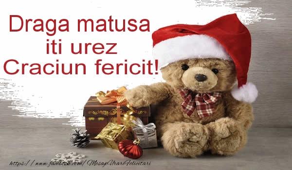 Felicitari de Craciun pentru Matusa - Draga matusa iti urez Craciun fericit!